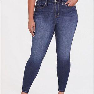 Sky high skinny jean premium stretch dark wash